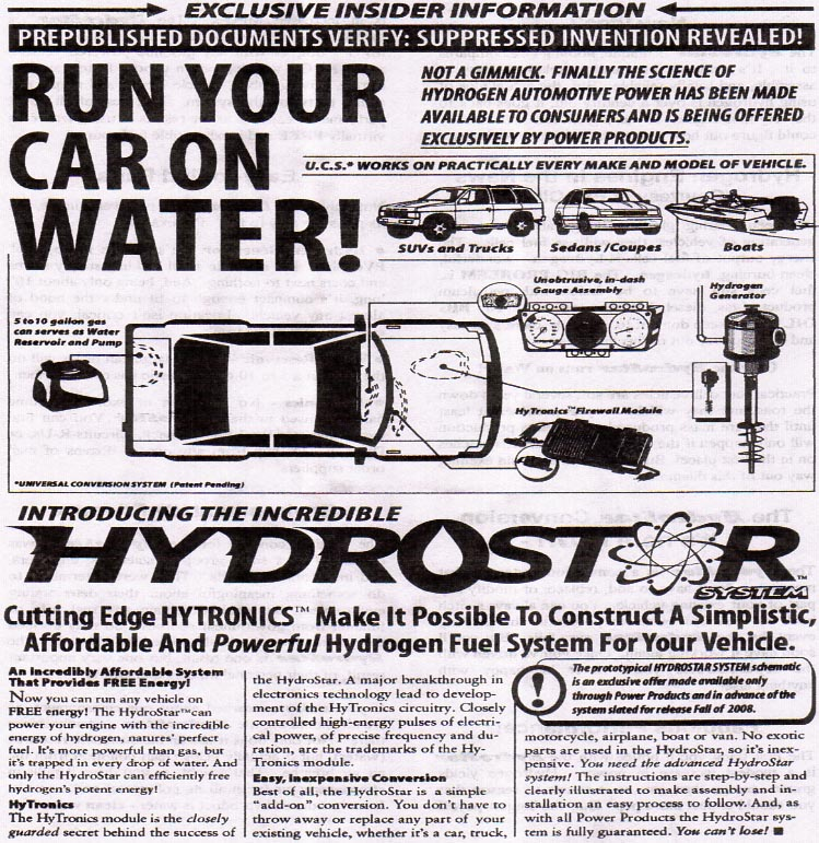 how to run your car on water plans