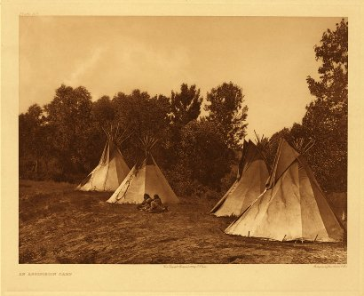 Edward Curtis American Indian Art Sample TeePee
