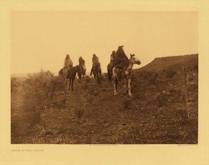 Edward Curtis American Indian Art Sample Horses
