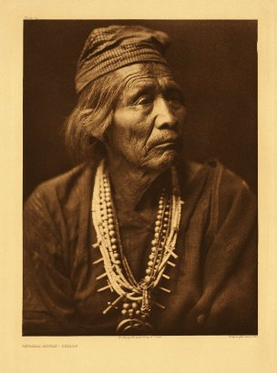 Edward Curtis American Indian Art Sample Old Indian
