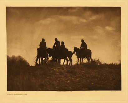 Edward Curtis American Indian Art Sample Horseback