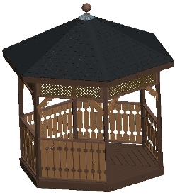 10 ft Hexagon Gazebo Plan