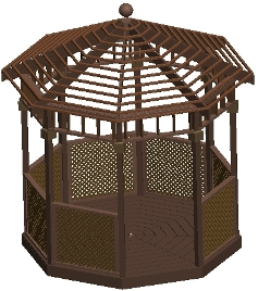 10 ft Open Air Gazebo Plan