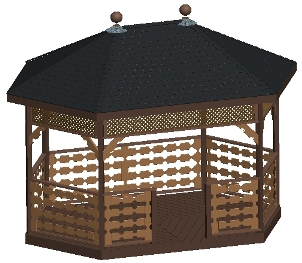 10x16 Hexagon Gazebo Plan