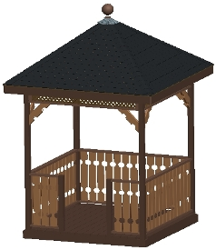 8 ft Square Gazebo Plan