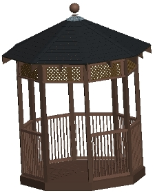 8 ft Octagon Gazebo Plan
