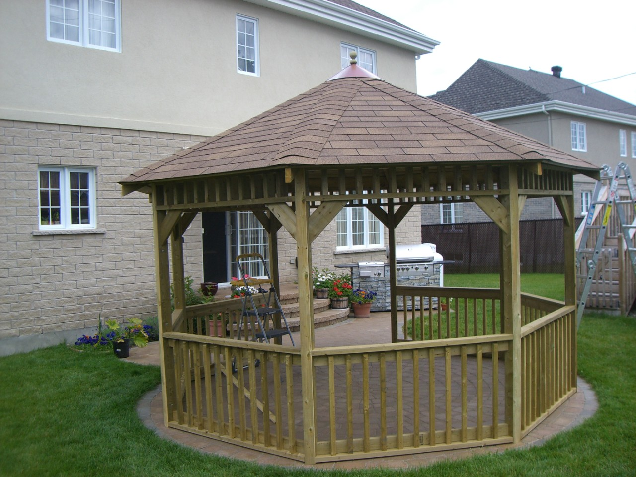 How to build your own victorian gazebo plans screen in for Simple gazebo plans