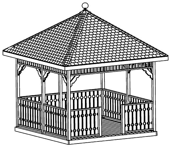 Custom design gazebo plans 10ft square gazebo plans diy guides how to cd ebay - Build rectangular gazebo guide models ...