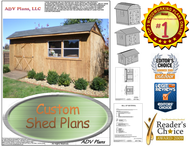 outdoor shed plan package