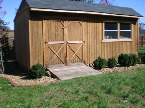 10x20 Saltbox Shed Opposite Corner View