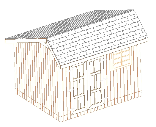 10x12 saltbox storage shed 26 barn plans build your own ebay for Salt box shed plans