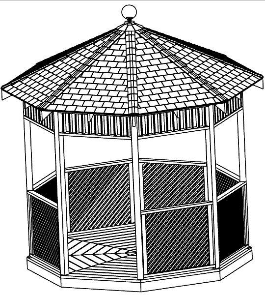 Custom Design Gazebo Plans, 8ft Octagon Plans, DIY
