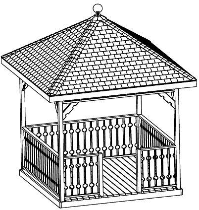 Beginner design gazebo plans 12ft square gazebo hip roof for 8 sided gazebo plans